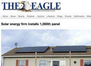 Addison Eagle Solar Goal SunCommon