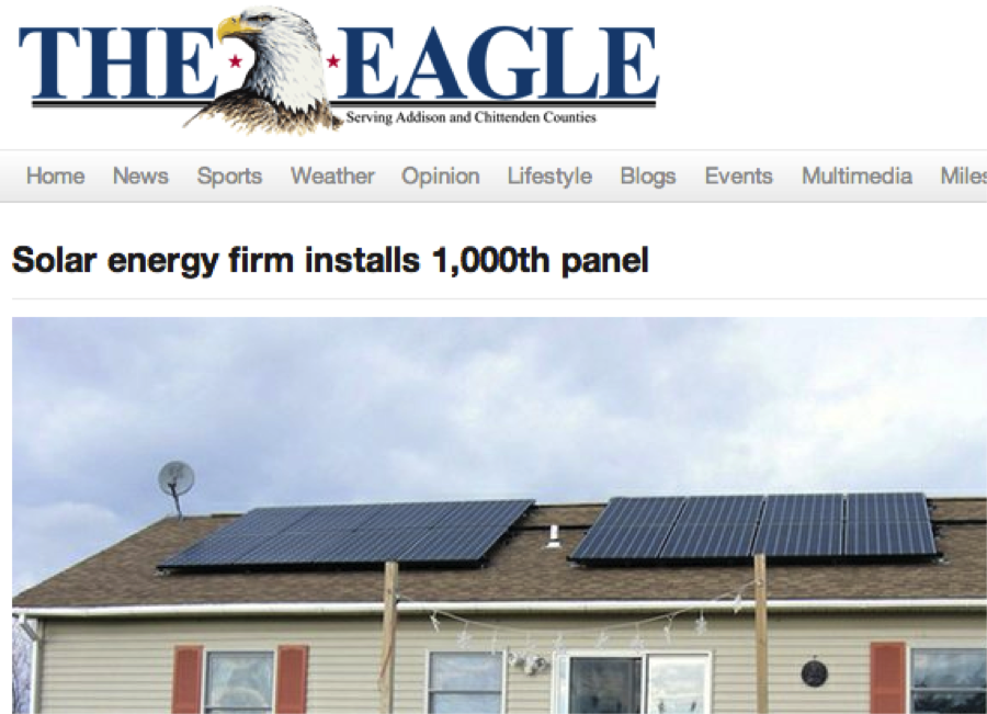 Addison County Vt Sees Its 1000th Solar Installation