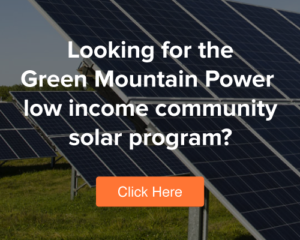Low Income Community Solar Program Button to Landing Page