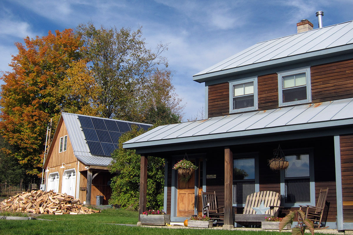 Garage solar rooftop