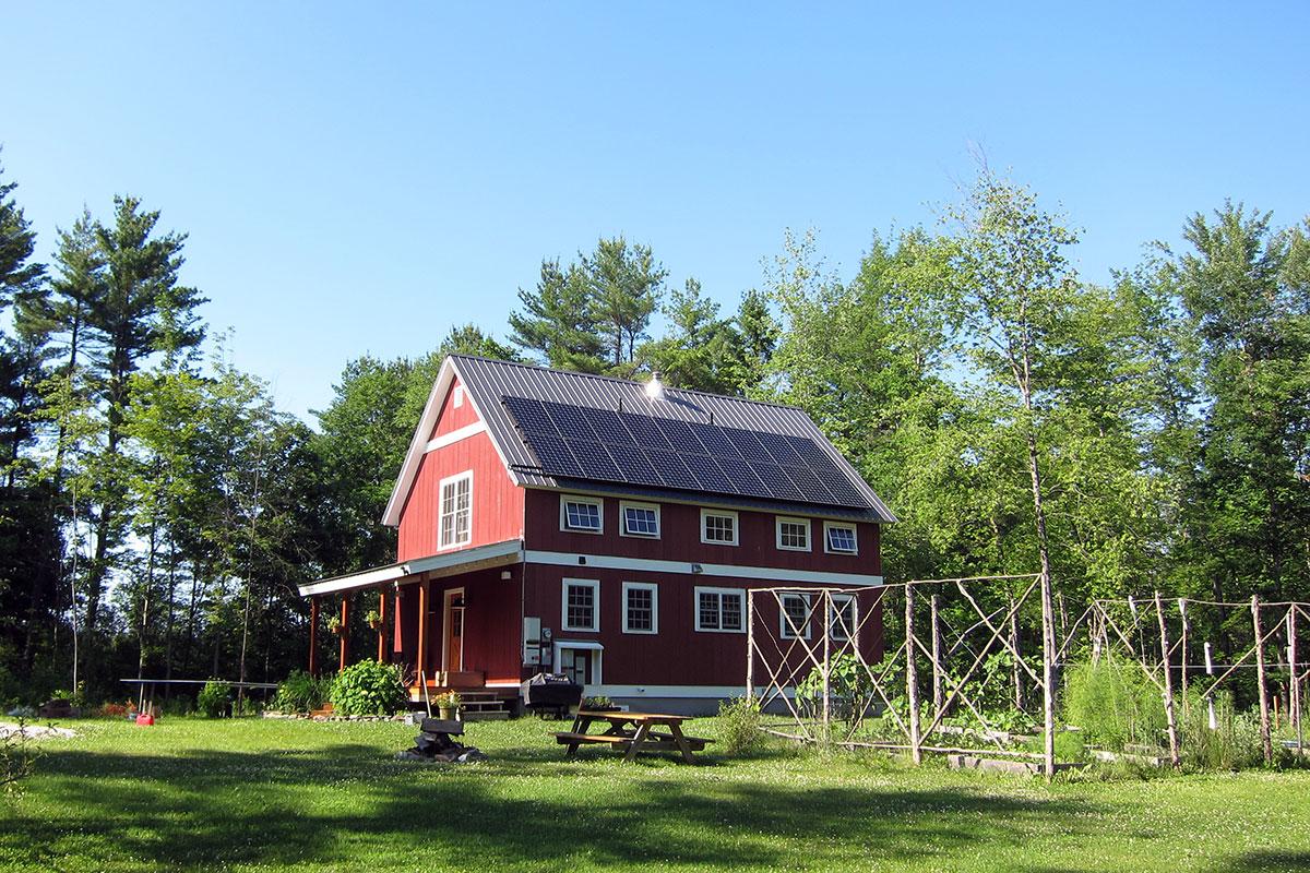 Farmhouse with solar in Ferrisburgh