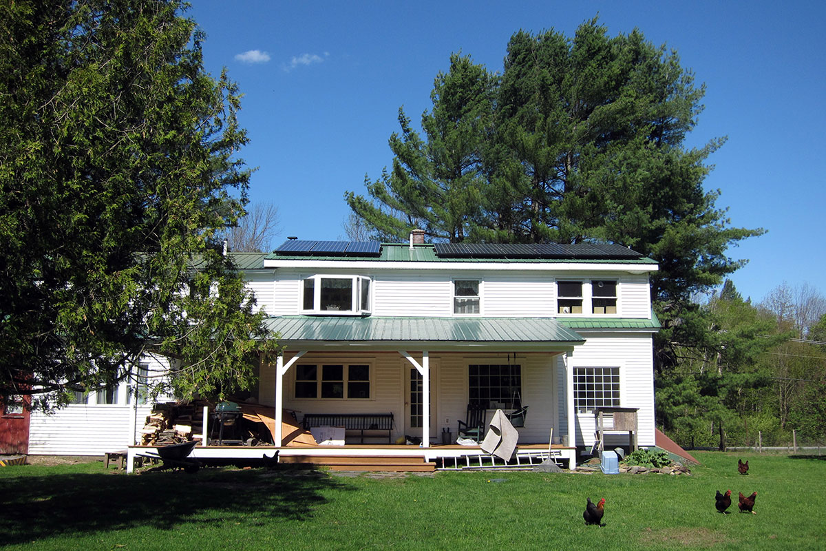Farmhouse with solar in Stowe, VT