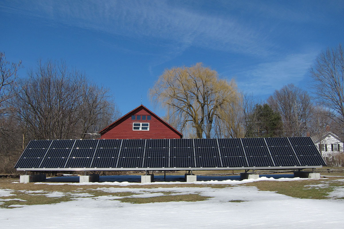 Ground mount solar in front of barn