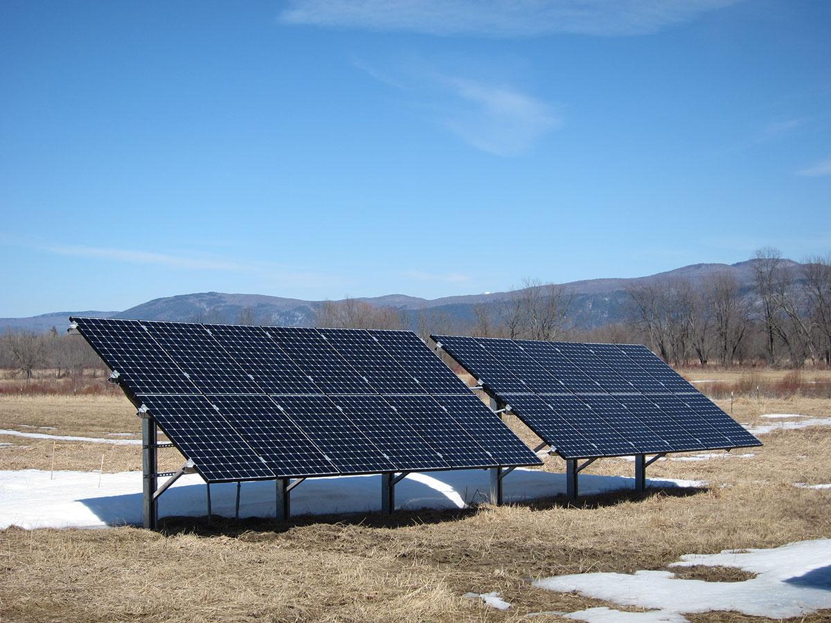 Ground mount solar in field 2