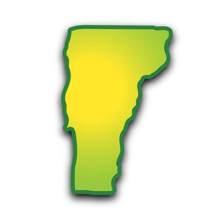Vermont map for the solar friends program image