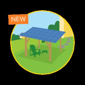 solar canopy circle graphic
