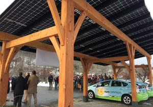 Solar Canopy with SunCommon Prius