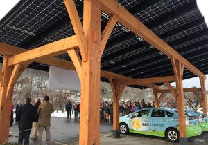 Solar Canopy with SunCommon Prius