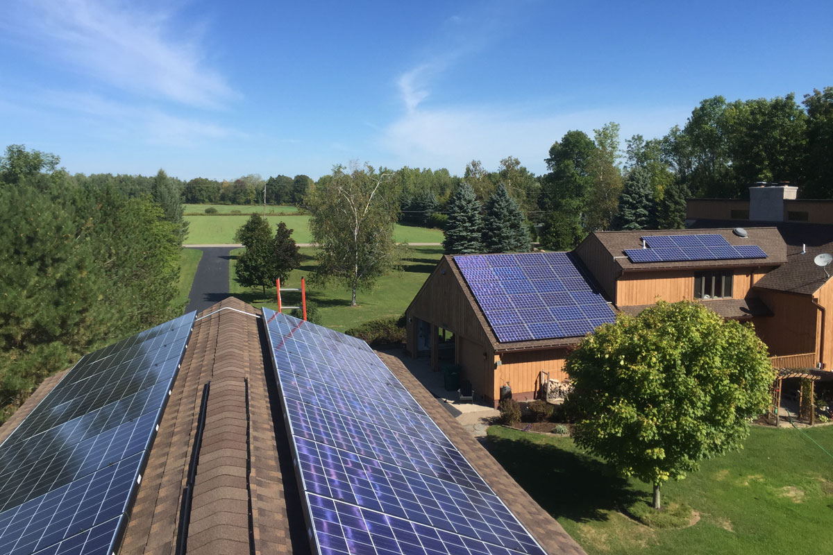 Bielemeier residence with rooftop solar panels