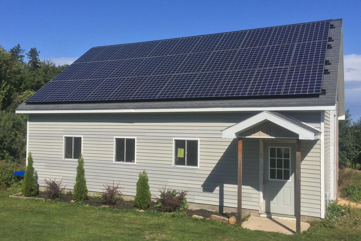 Knataitis residence roof mount solar panels