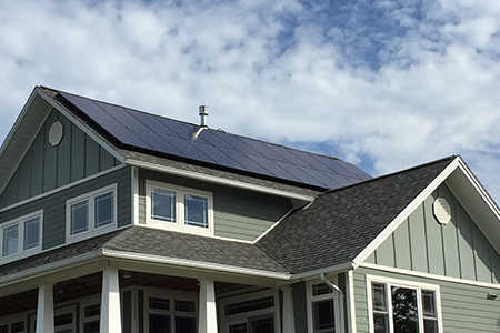 NY house with solar panels