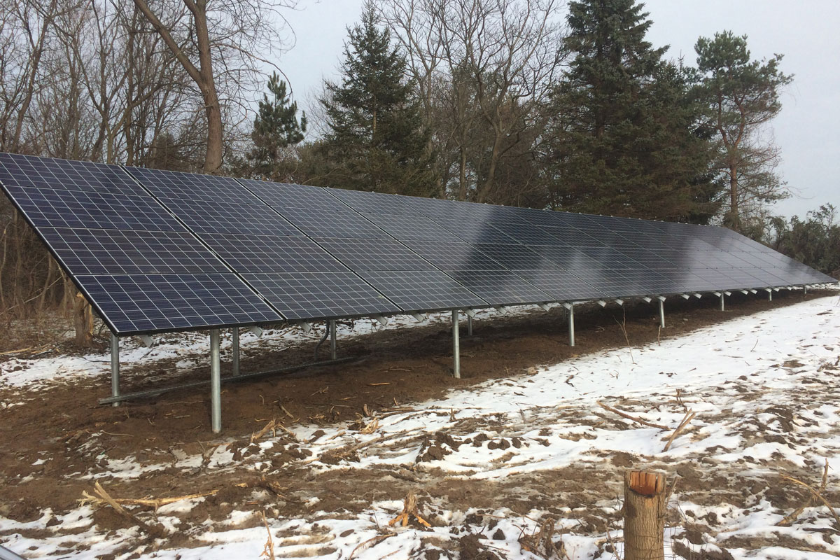 Ground Mount Solar Array in NY