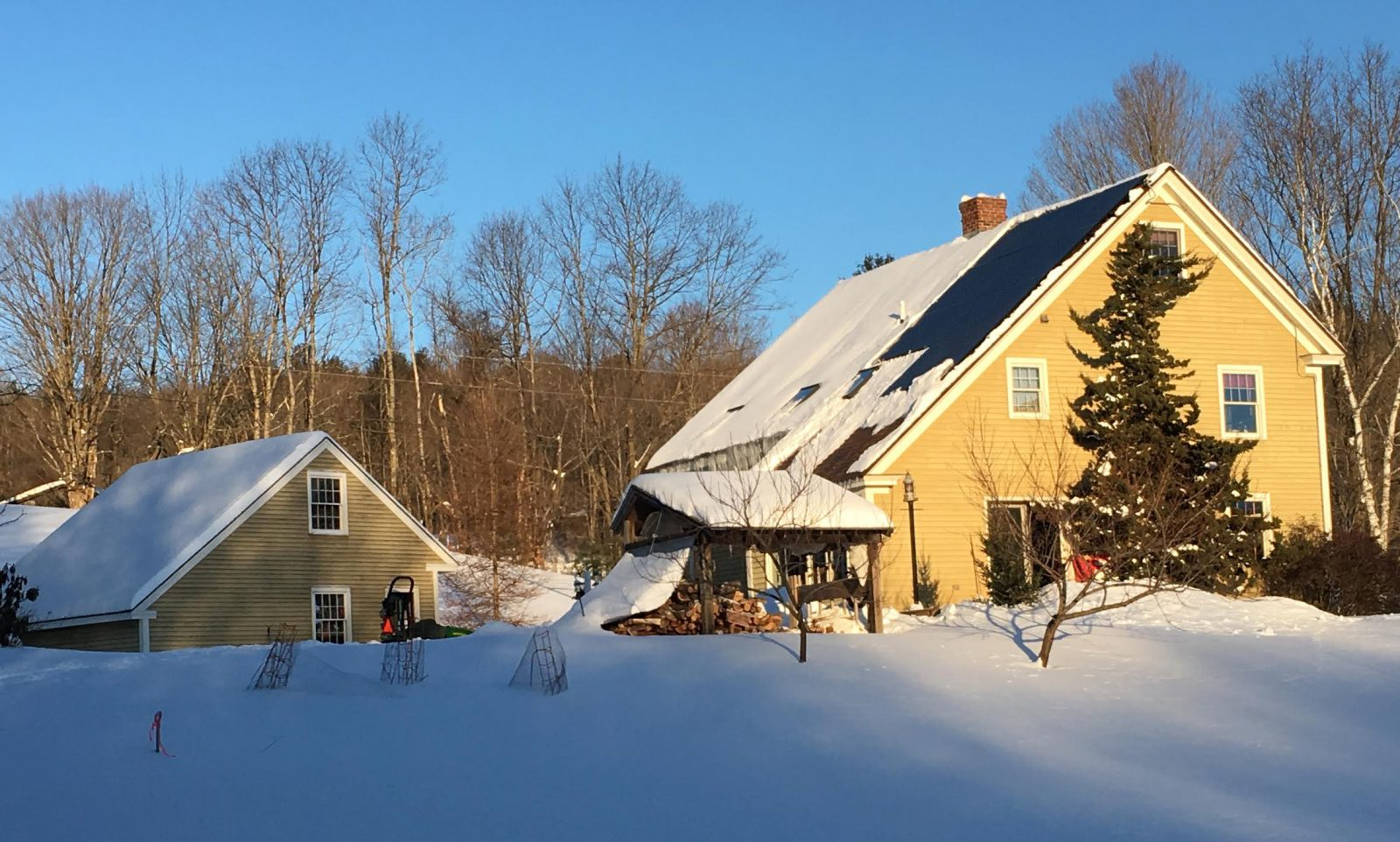 Winter Solar Array at the Kemble House
