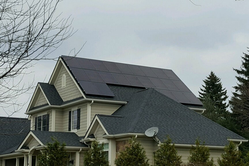 Victorian home with Solar Panels on roof