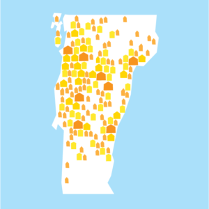 Map of Vermont Solar Homes