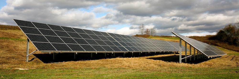 Solar array on a hill