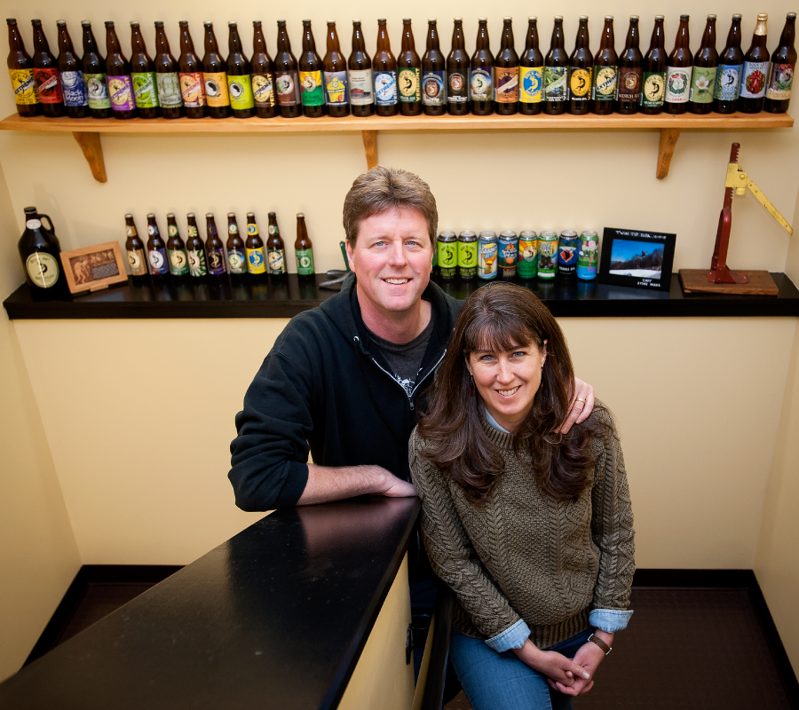 Owners of a proud solar brewery