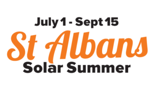 The Saint Albans Solar Summer campaign logo