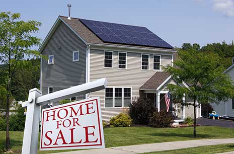 Another angle of a solar home for sale