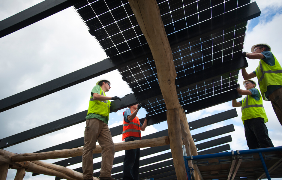 Placing Panels on the solar canopy