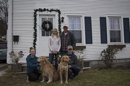 Danforth family at their solar home in Brandon. VT