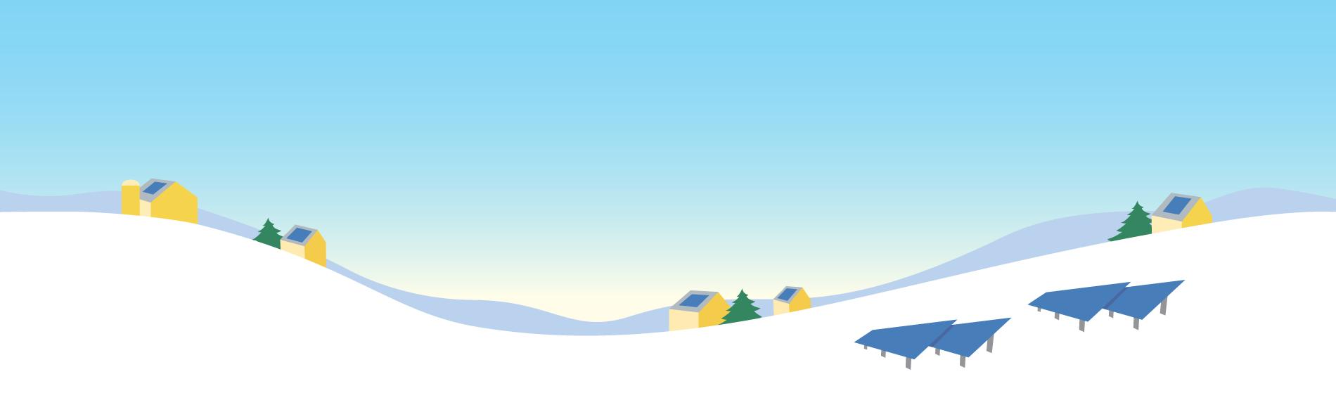 Solar in Winter Background
