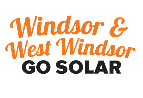 Windsor West Windsor Go Solar Campaign Logo