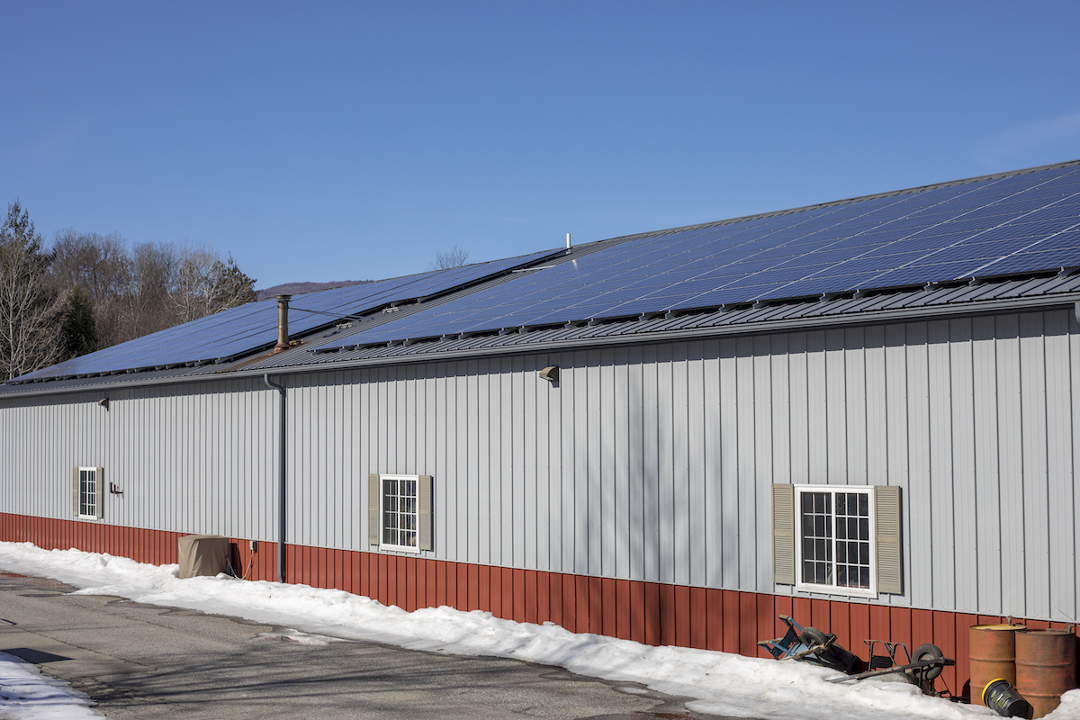 ST Paving Solar Roof Array Commercial Solar Project Waterbury Vermont