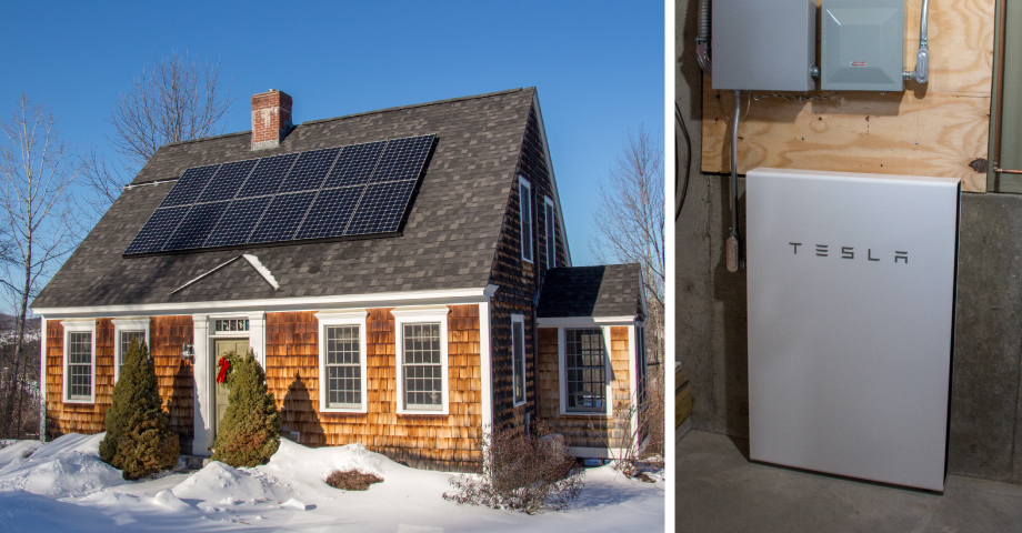Tesla Powerwall Installed at Vermont Cape Home