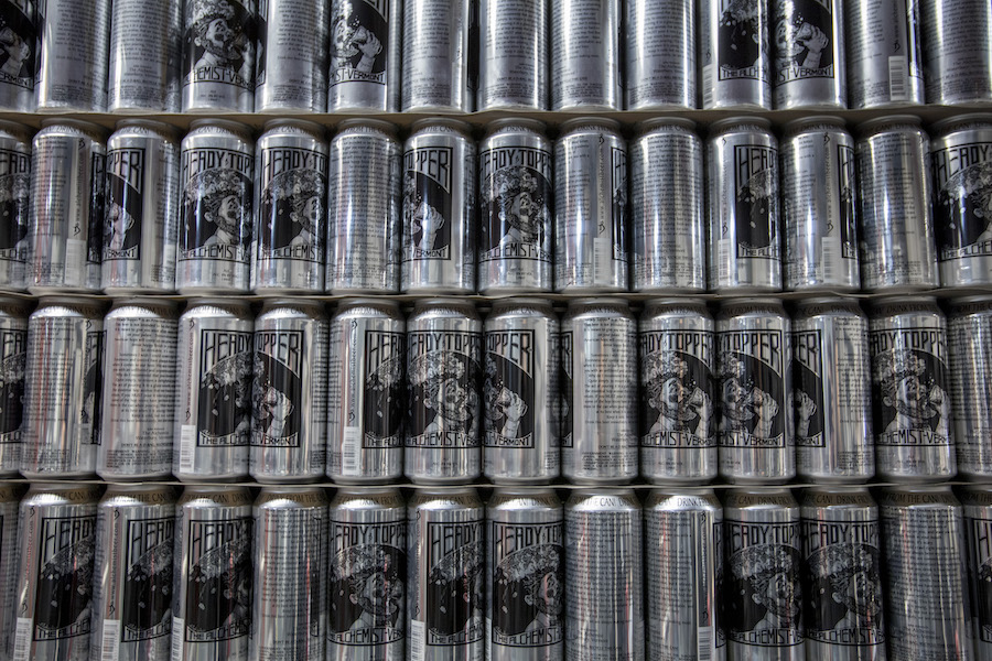 A wall of heady topper