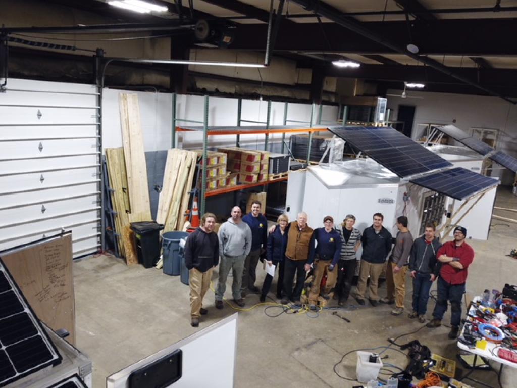 The crew building SOS