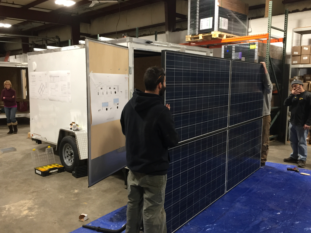 Installing panels on the SOS