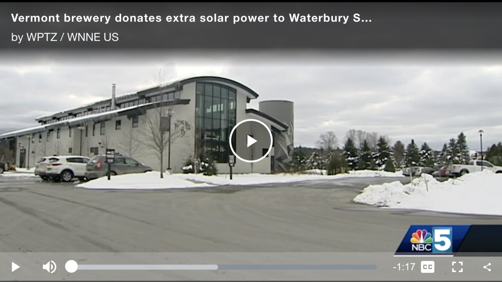 WPTZ Video Link for Alchemist Solar Cannery Story