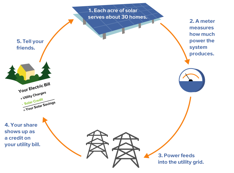 CSA Graphic How Community Solar Works