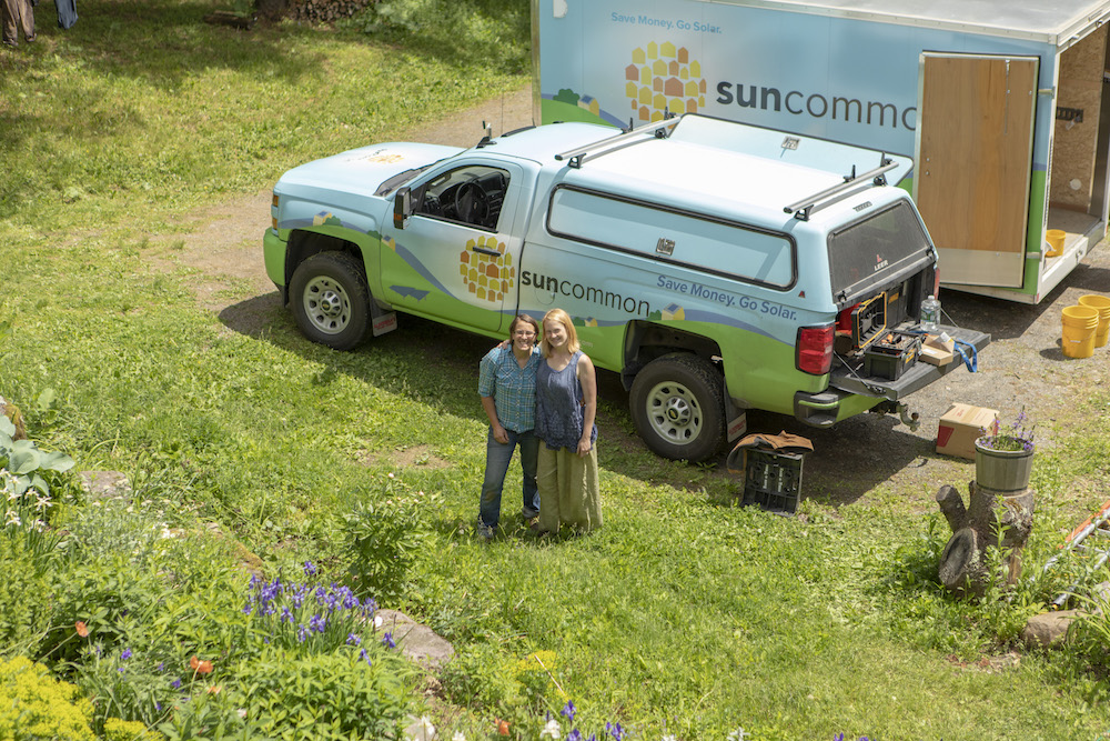 happy solar customers on their homestead