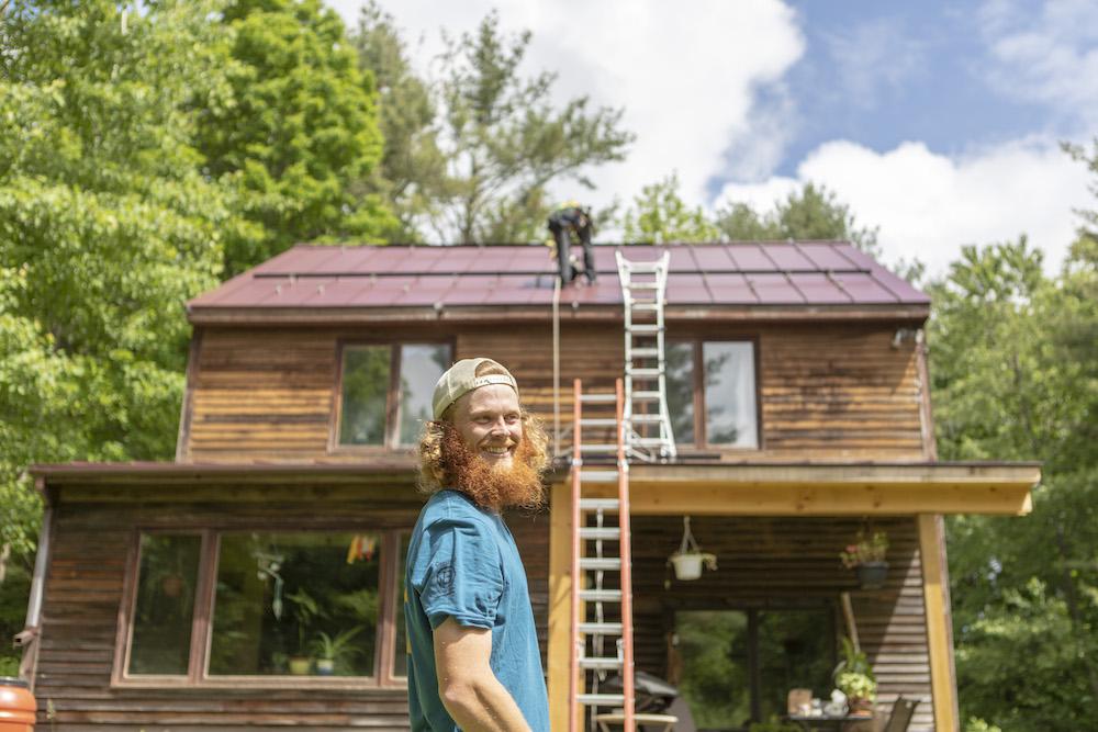 Installing solar on an organic microfarm