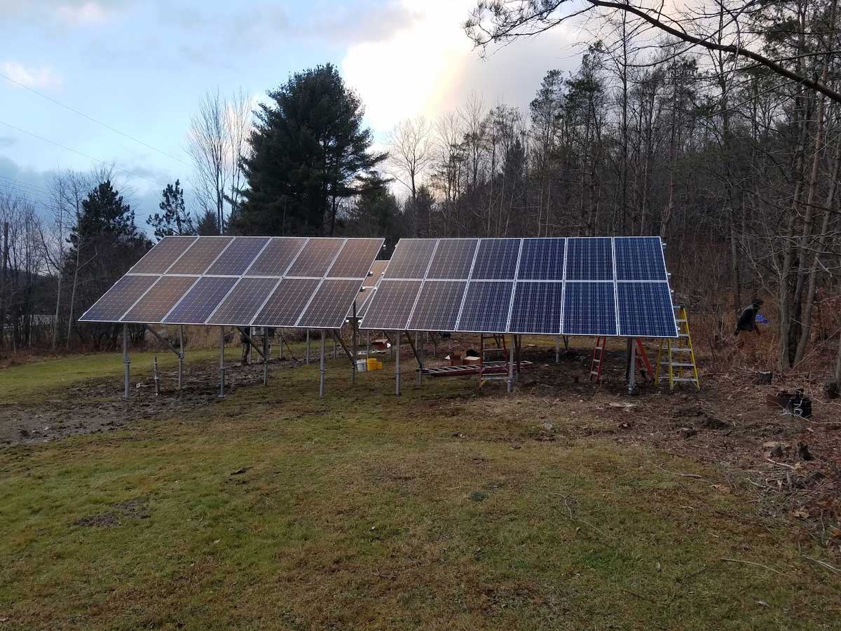 Solar Powered Camping In Georgia Vermont