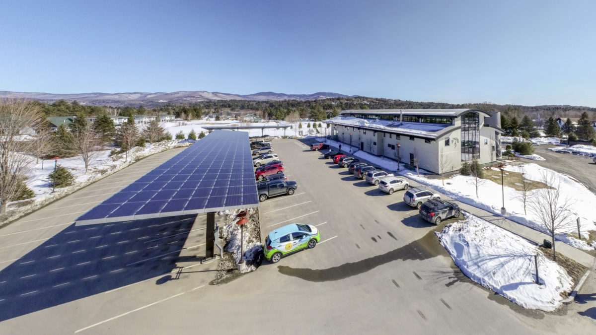Alchemist Solar Parking Canopy in Stowe