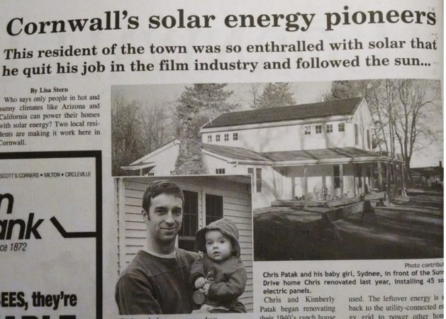 solar installation article 2006 cornwall new york