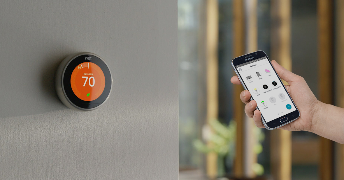 smart thermostats that synch with your phone or device