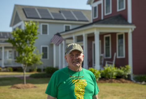 Grandfather Goes with Rooftop Solar in South Burlington, Vermont
