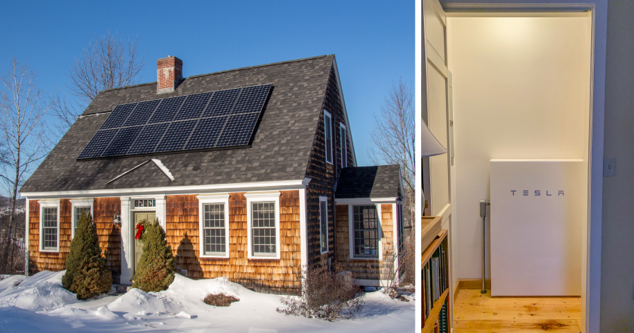 Tesla Powerwall Installed in Vermont Home