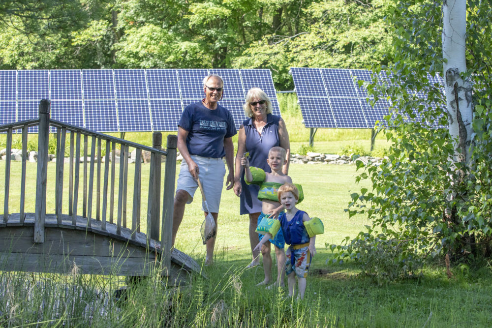 Richmond Residents Ground Mount Solar Panels