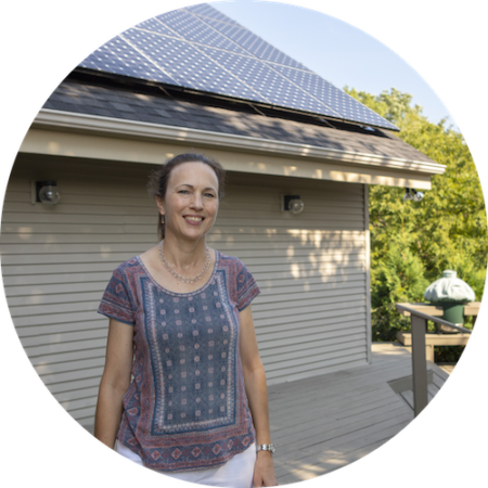 Susan Coté in Williston, Vermont and her rooftop solar