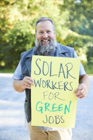 Solar Worker Climate Strike