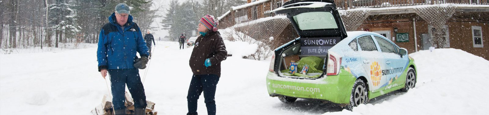 SunCommon car in the snow