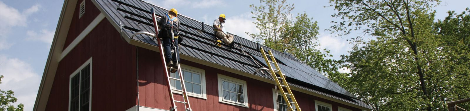 Residential solar being installed