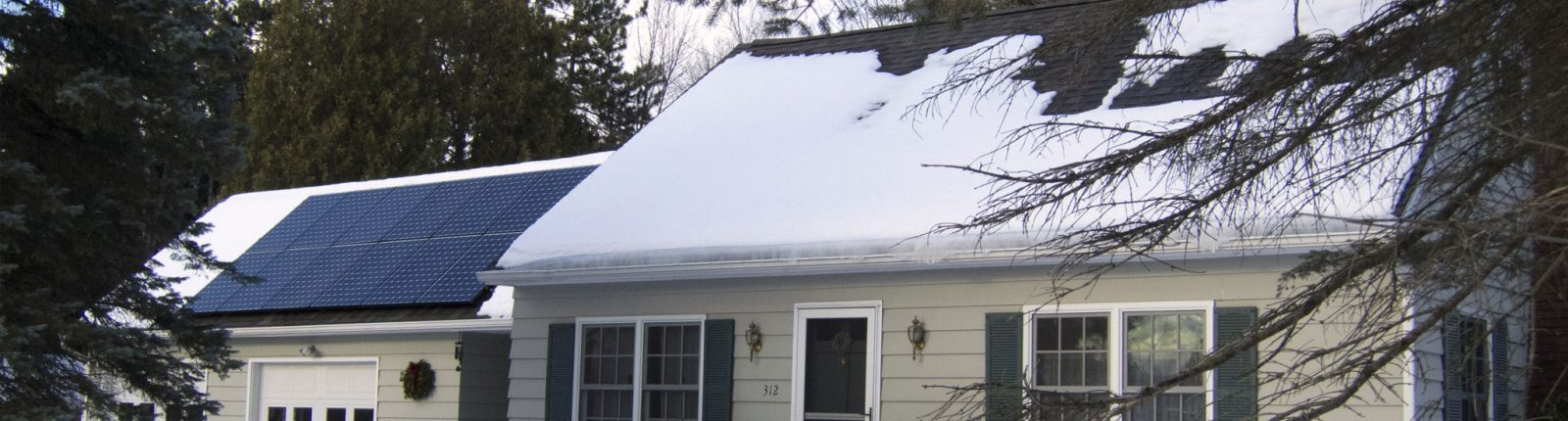 Snow on roof but not on panels